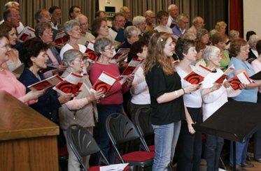 choir rehearsal - cranleigh choral society